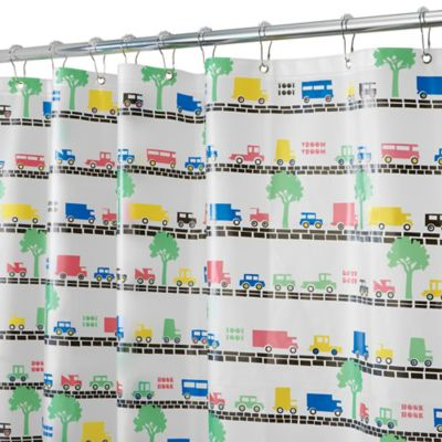 InterDesign® PEVA Beep Beep Shower Curtain