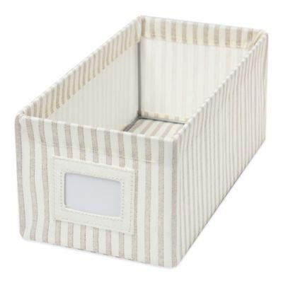 Small Accessory Storage Bin in Brown Stripe