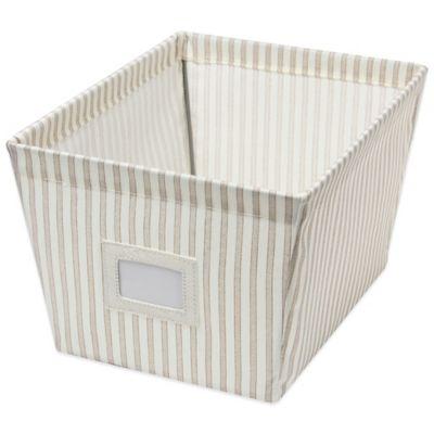 Medium Canvas Storage Bin in Stripe