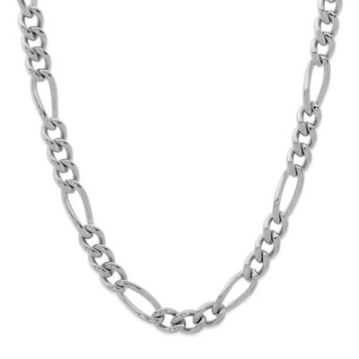 Stainless Steel 24-Inch Men's Figaro Chain