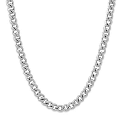 Stainless Steel 24-Inch Men's Curb Chain