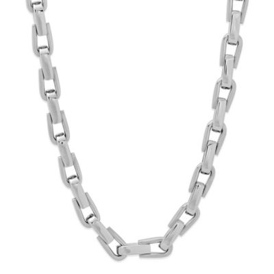 Stainless Steel 24-Inch Men's U-Link Chain