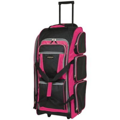 Traveler's Club 30-Inch Multi-Pocket Rolling Upright in Pink