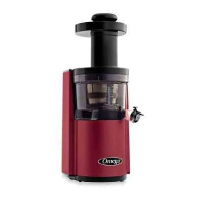 Omega® VSJ843R Low Speed Dual Edge Juicer in Red