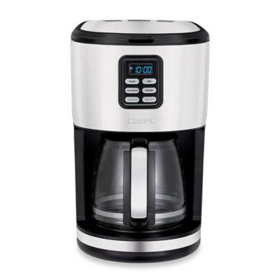 Coffee Maker With Metal Filter : Krups 12-Cup Stainless Steel Filter Coffee Maker - Bed Bath & Beyond