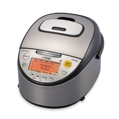 Tiger Micom 10-Cup Induction Rice Cooker and Warmer in Black