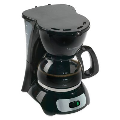 4-Cup Coffee Maker in Black
