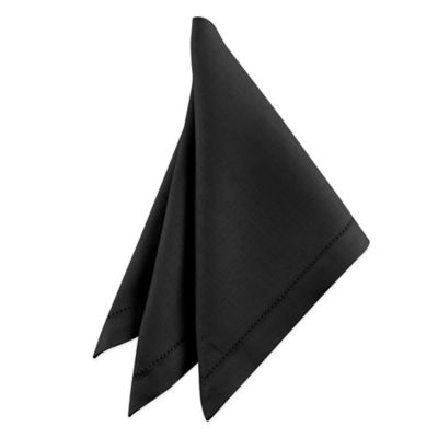Waterford® Linens Addison 100% Linen Napkin in Black