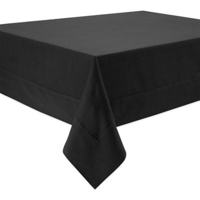 Waterford® Linens Addison 70-Inch x 144-Inch 100% Linen Tablecloth in Black