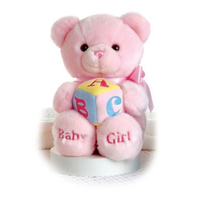 Aurora® Musical ABC Teddy Bear in Pink