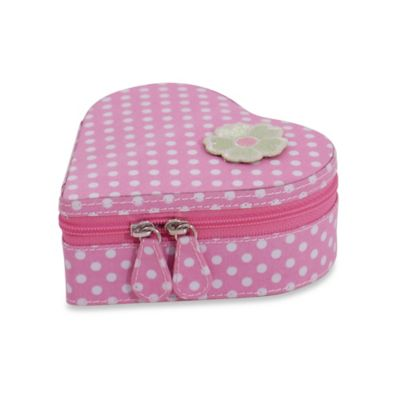 Wolf Designs Willow Heart Jewelry Zip Case in Pink