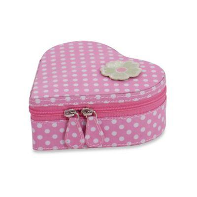 Wolf Designs Willow Heart Jewelry Zip Case in Pink