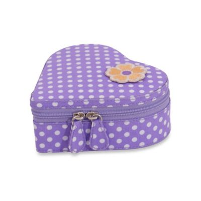 Wolf Designs Willow Heart Jewelry Zip Case in Purple