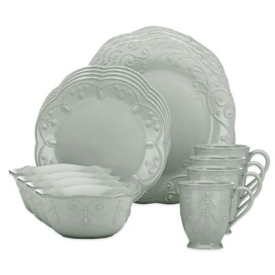 Lenox® French Perle™ 16-Piece Dinnerware Set in Grey