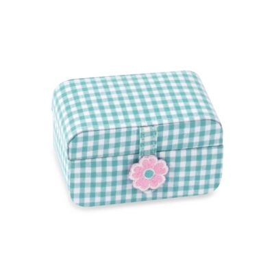 Wolf Designs Poppy Petite Mini Jewelry Case in Turquoise