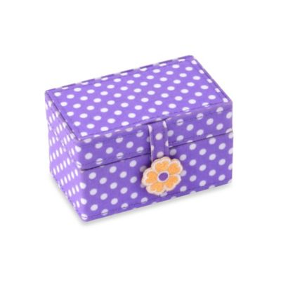 Wolf Designs Poppy Petite Mini Jewelry Case in Purple