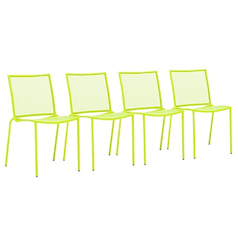 Zuo® Repulse Bay Chairs in Lime (Set of 4)