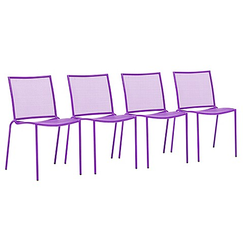 Zuo® Repulse Bay Chairs in Purple (Set of 4)