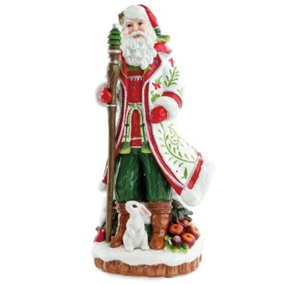 Fitz and Floyd® Winter White Holiday Musical Santa