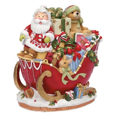 Fitz and Floyd® Candy Cane Musical Santa