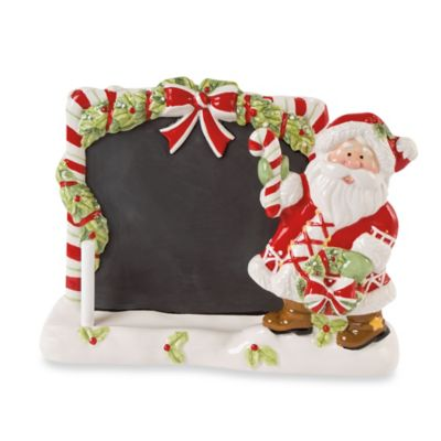 Fitz and Floyd® Candy Cane Santa Tablet Holder & Chalkboard
