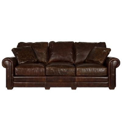 Safavieh Walter Sofa in Cocoa Brown
