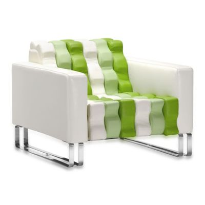 Zuo® Modern Ripple Occasional Chair in White & Green
