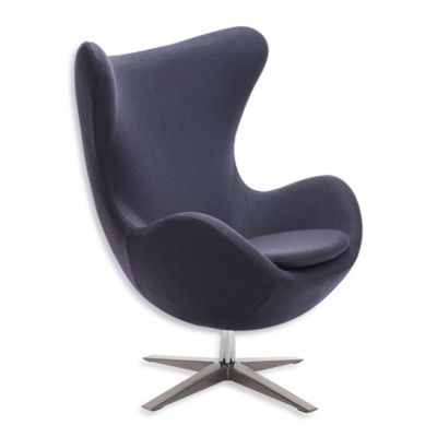 Zuo® Modern Skien Occasional Chair in Iron Grey