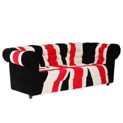 Zuo® Modern Union Jack Sofa in Red, White & Black
