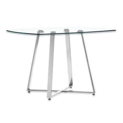 Zuo® Modern Lemon Drop Dining Table in Chrome