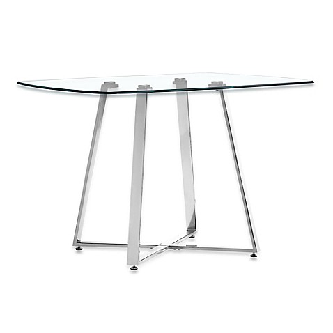 Buy Zuo Modern Lemon Drop Dining Table In Chrome From Bed Bath