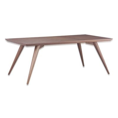 Zuo® Modern Stockholm Dining Table in Walnut