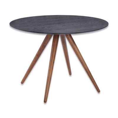 Zuo Modern Grapeland Heights Dining Table in Walnut & Black