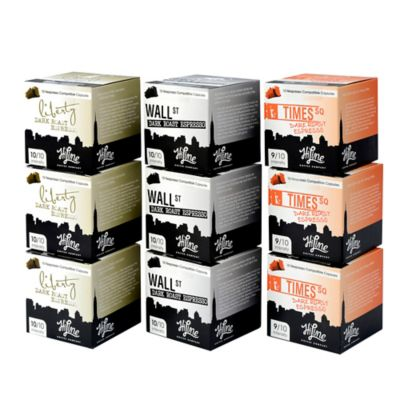HiLine Coffee 90-Count Assorted Dark Roast Espresso Capsules Combo