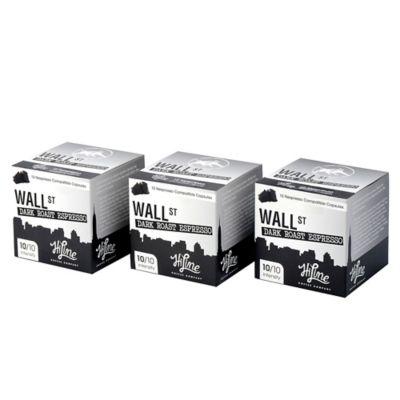 HiLine Coffee 30-Count Wall Street Dark Roast Espresso Capsules