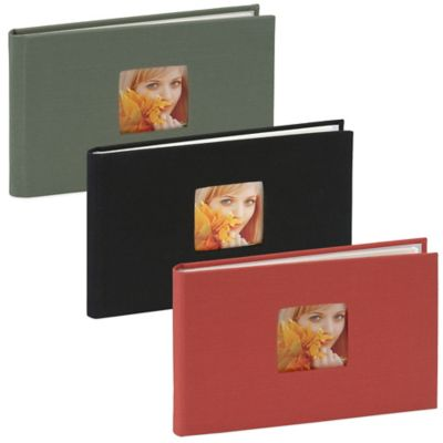 Bookcloth Brag Book Photo Album in Grey