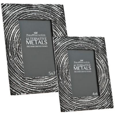 Philip Whitney Alternative Metals 5-Inch x 7-Inch Antique Spiral Aluminum Frame