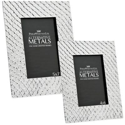 Philip Whitney Alternative Metals 5-Inch x 7-Inch Mesh Aluminum Frame