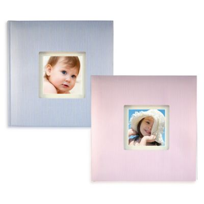 Tender Moments Photo Album in Pink Stripe