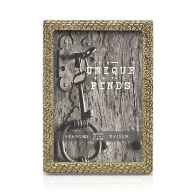 Arte de Casa 4-Inch x 6-Inch Snake Frame in Gold