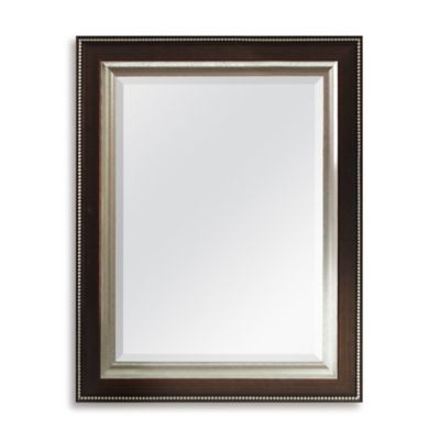 Bronze Bead 21-Inch x 27-Inch Wall Mirror