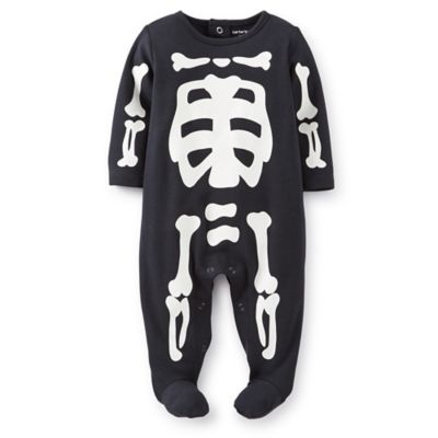 Carter's® Size 6M Skeleton Footie in Black