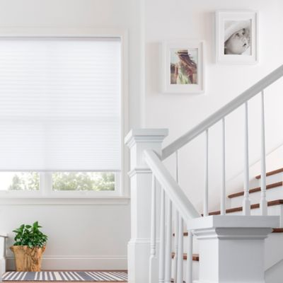 Real Simple® Cordless Pleated 63.5-Inch x 64-Inch Shade in Flurry