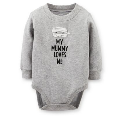 Carter's® Size 6M My Mummy Loves Me Bodysuit in Grey