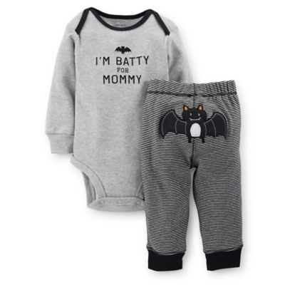 Carter's® Newborn 2-Piece I'm Batty for Mommy Bodysuit and Pant Set in Grey