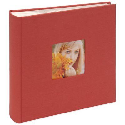 Bookcloth Book-Bound Photo Album in Orange