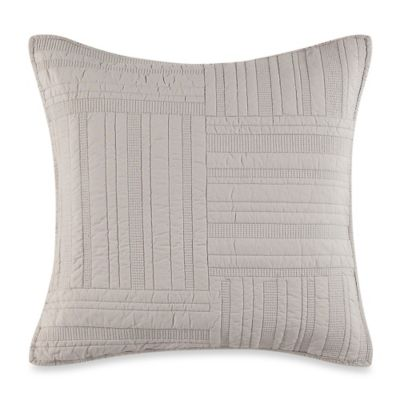 Barbara Barry® Eternity Square Throw Pillow in Oyster