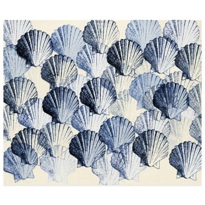 Indigo Scallop Shells Wall Art