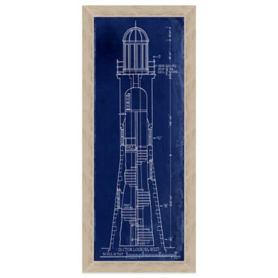 Lighthouse Blueprint Section 1 Wall Art