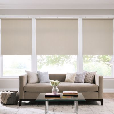 Real Simple® Cordless Faux Silk Roller 71-Inch x 66-Inch Shade in Safari